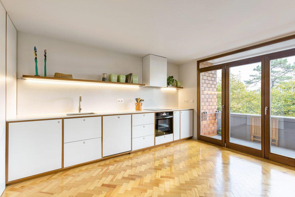 cozinha com varanda
