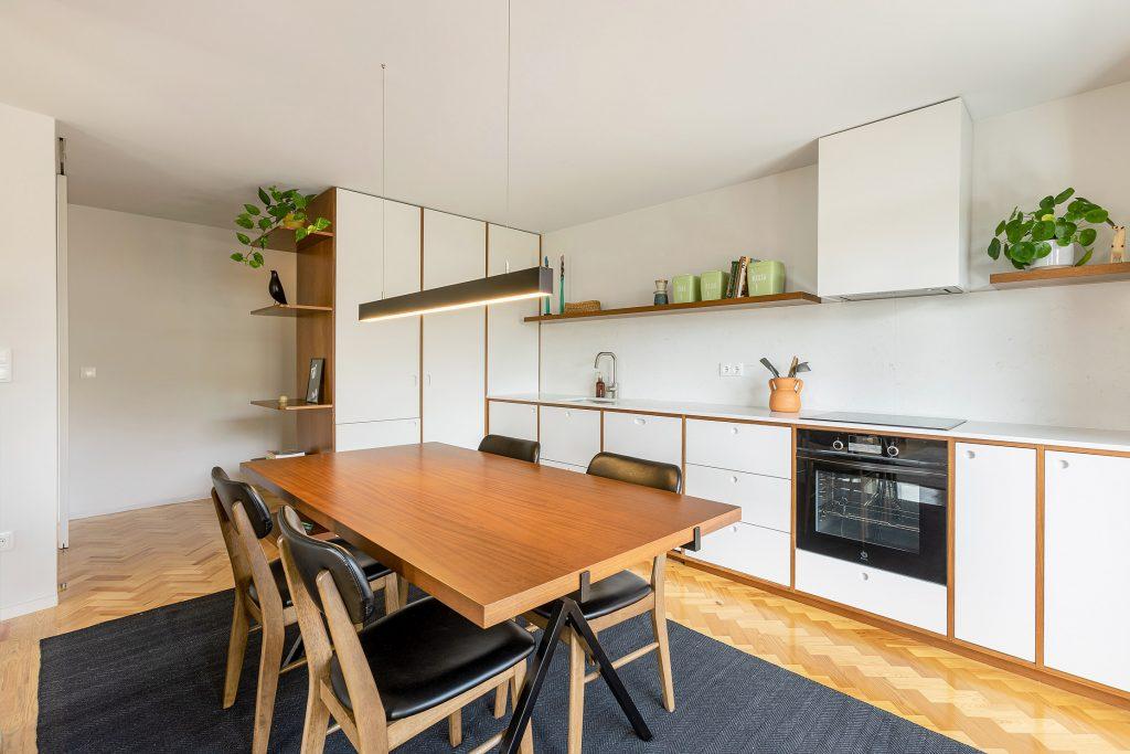 cozinha open space mobilada