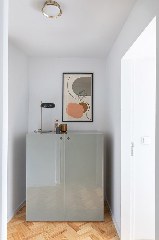 decoracao corredor armario minimalista