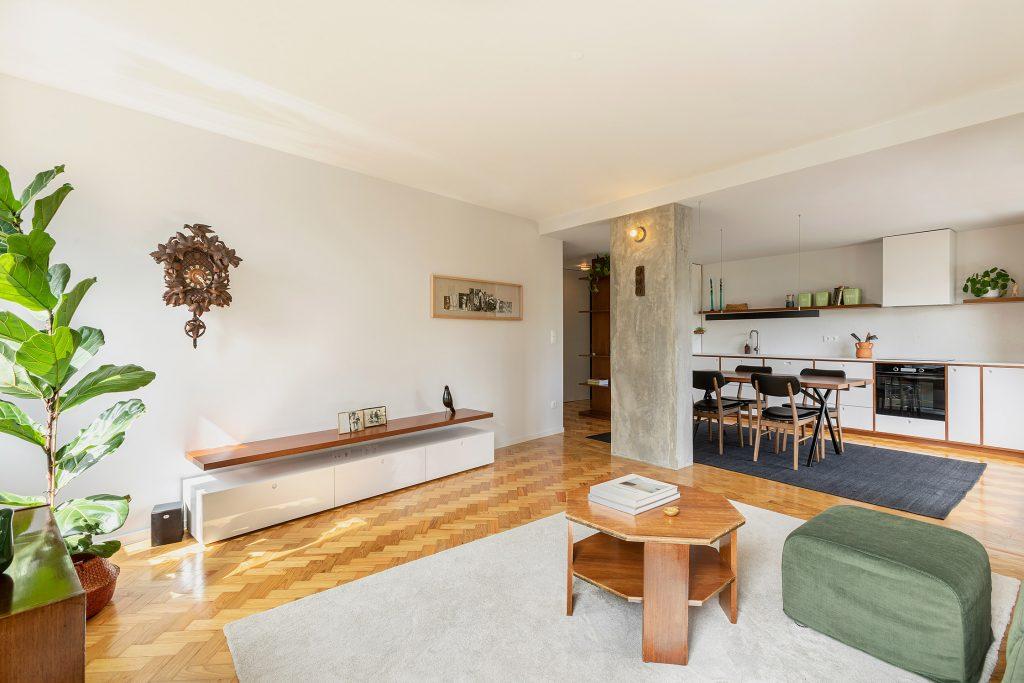 fotografia de sala e cozinha open space