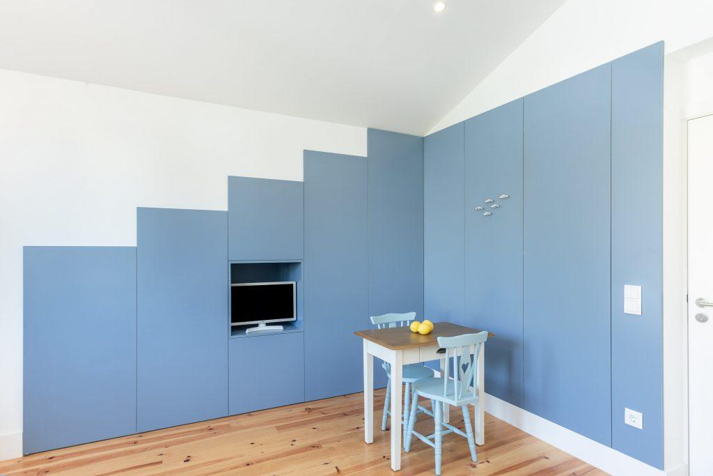decoracao azul minimalista