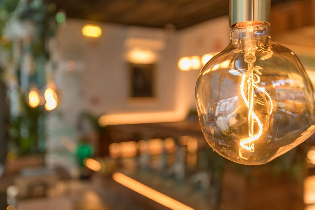 detalhe de lampada